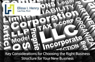Right Business Structure for Your New Business