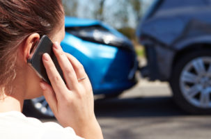 car crash accident calling lawyer
